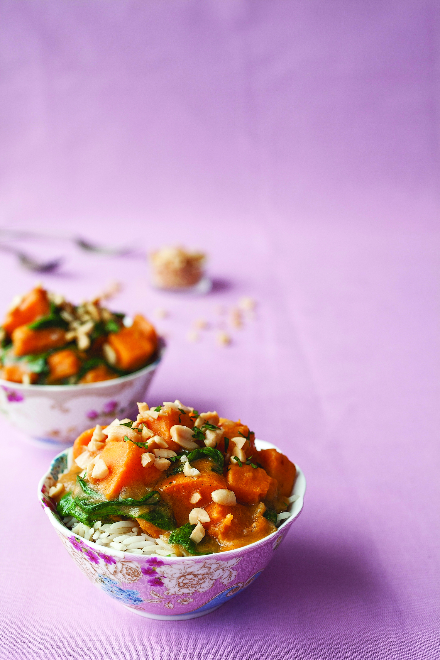 sweet potato and spinach yellow curry
