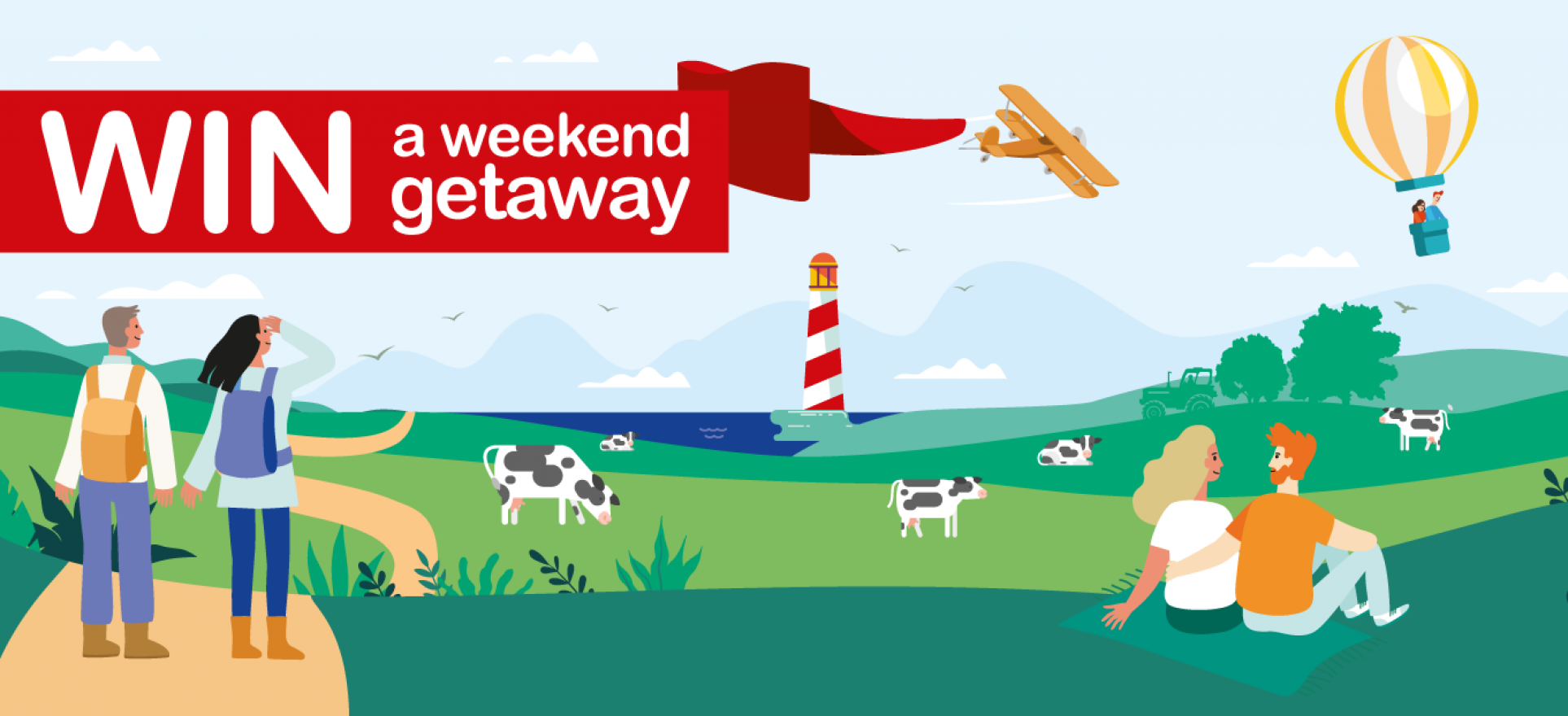 an image of win a weekend getaway banner