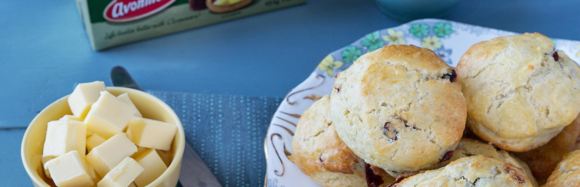 Orange and cranberry scones