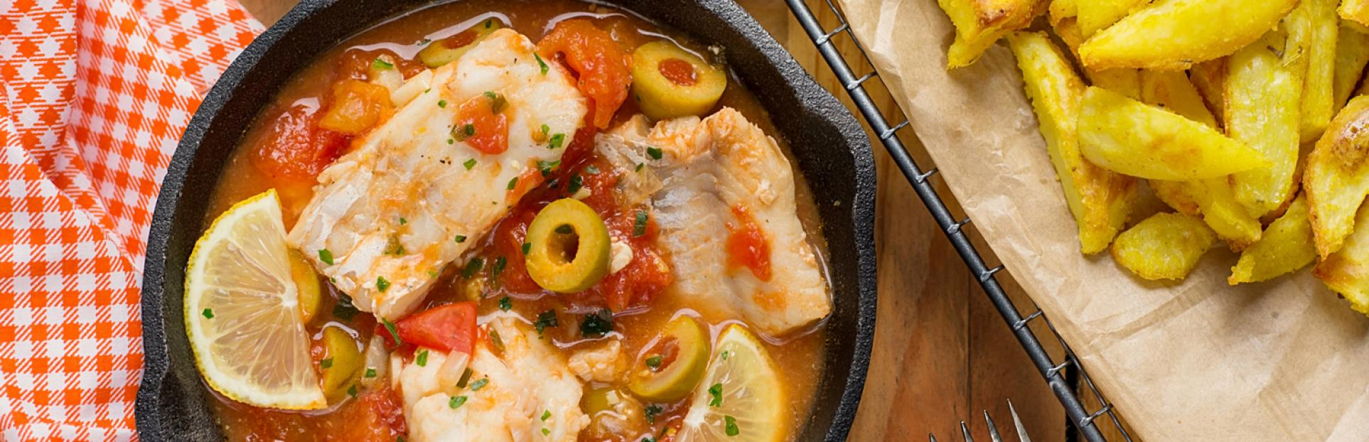 an image of baked fresh cod on the pan