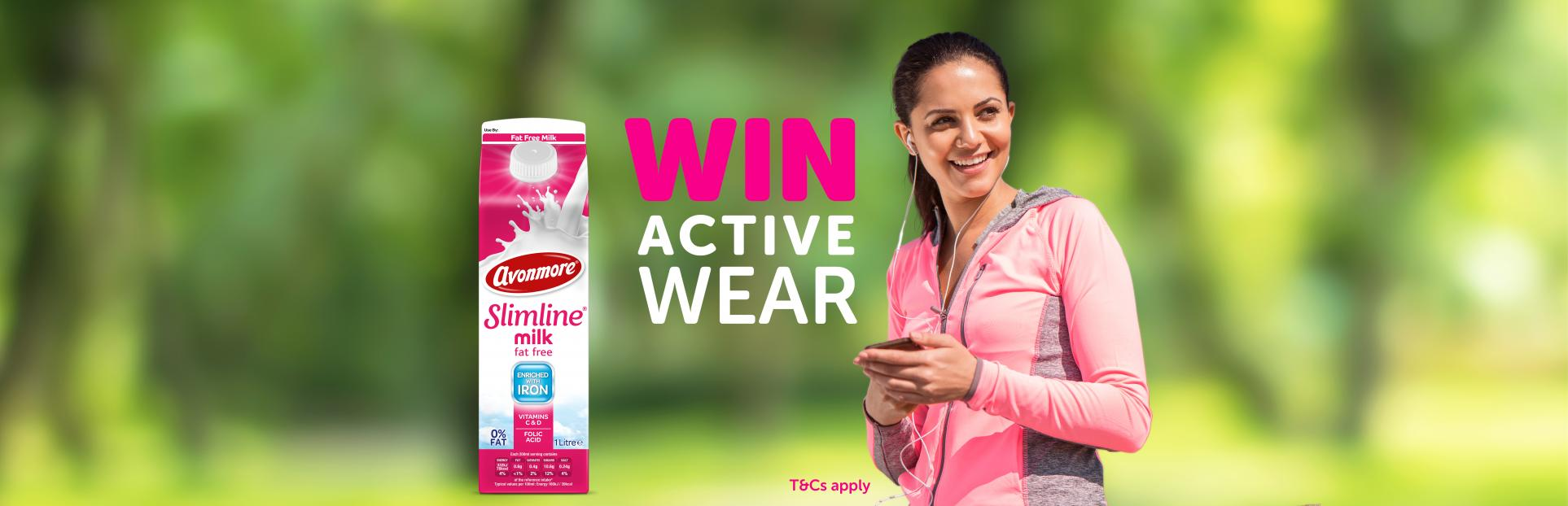 An image of win active wear with slimline