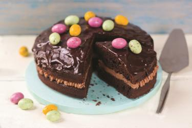 Triple Chocolate Easter Cake