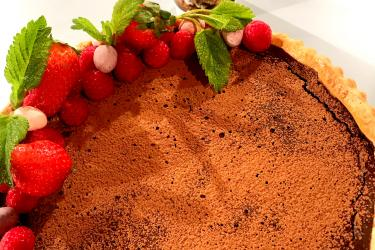 catherine fulvio's chocolate berry tart