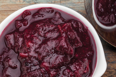an image of cranberry sauce