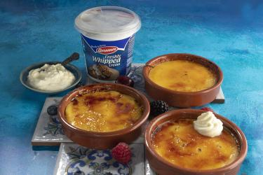 an image of crema catalana and avonmore whipped cream tub