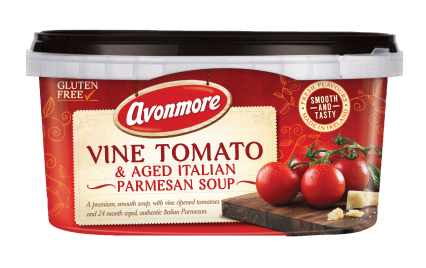 an image of a tub of vine tomato soup