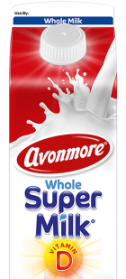 an image of avonmore whole supermilk 1 litre
